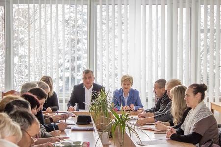 Нарада та розширене засідання президії голів  районних, міських, вузівських профорганізацій.