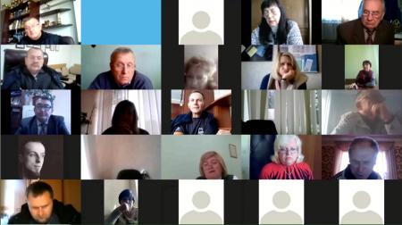 Нарада та президія  голів членських профорганізацій в режимі онлайн